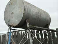 500-gal fuel tank on steel stand