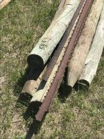 """(5) 6' (4-5"""") posts & (3) steel T-posts (sell as a lot)"""
