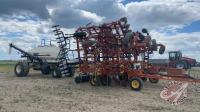 50' Bourgault 8810 air seeder w/Bourgault 5300 triple compartment 2-meter air cart, s/n36160CU-05, tank s/n36448AS-05
