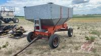 approx 110-bus Gravity box on 4-wheel wagon