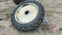 (1) 12.4-42 tire on rim
