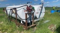 (2) 1000-gal Westeel single wall fuel tanks on shared skid