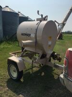 """Midwest 552 Grain Vac w/6"""" suction & 8"""" discharge, 215/75R15 rubber, s/nMW-88-552-1061, A34"""