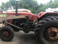 Massey Super 90Diesel 2wd tractor w/Multipower, Malco loader with fork,4300hrs showing, s/n886728