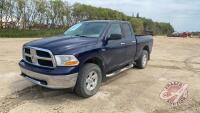 2012 Dodge Ram 1500 SLT Quad, 5.7 Hemi, 142,305 kms showing, VIN#MBPGSIN7559 ,MPI - REBUILT, H54, Owner: Burgess Farms Ltd, Seller: Fraser Auction______________ ***TOD & Keys - office trailer***