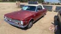 1964 Plymouth Valiant, VIN# 1449101481, NOT RUNNING, H39, Owner: Lonnie D Studer, Seller: Fraser Auction_______________ ***TOD & Keys - office trailer***