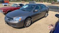 2006 Honda Accord EX-L, 362,821 Kms showing, VIN# 1HGCM56896A801137, H39, Owner: Lonnie D Studer, Seller: Fraser Auction________________ ***TOD & Keys - office trailer***