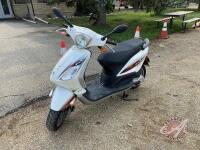 2012 Piaggio Fly 4V Scooter, 49cc, 1283 showing, s/n 0C4201703, __ ***keys - office trailer***