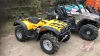 1998 Honda TRX450S 4x4 ATV, 6934 kms showing, VIN# 478TE2220WA000777, H114, Owner: Evan G Beilby, Seller: Fraser Auction_______________ **** TOD, manual, keys & spare key - office trailer***