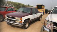 1995 Chevrolet C/R 10/1500 4+cab, 276,142 ms showing, VIN# 1GCEC19K2SE264690, H111 Owner: Tyler J Jennings, Seller: Fraser Auction______________ ***TOD & keys - office trailer***