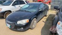 2004 Chrysler Sebring LXI, 127,234 kms showing, VIN# 1C3EL56R04N274196, SAFETIED, H141, Owner: William F Stevens, Seller: Fraser Auction__________________ *** TOD & Safety, Keys - office trailer***