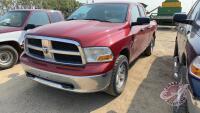2010 Dodge Ram 1500 SLT Quad Cab, 329,837 showing, VIN# 1D7RV1GTXAS157156, H148, Owner:5653143 Manitoba Ltd, Seller: Fraser Auction________________ ***TOD & keys - office trailer***