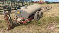 60ft George White pt field sprayer w/pto pump, galvanized tank
