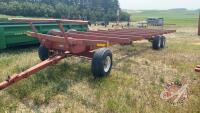 30' bale trailer w/tandem walking beam axles, single steering axle, 12.5L-15F1 rubber