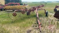 6-wheel Vicon Sprintmaster hay rake