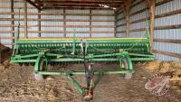 20ft JD 9350 DD press drills w/grass seed