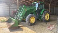 JD 7410 MFWD tractor w/JD 740SL loader