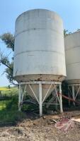 Friesen hopper bottom bin w/legs approx 14ft diameter BIN #5