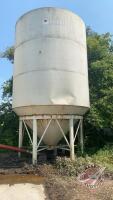 Friesen hopper bottom bin w/legs, approx 14ft diameter BIN #6