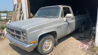 1983 GMC Sierra 1500 2wd truck, 237,567kms showing, VIN#2GTDC14H9D1501025, Owner: Benjamin Reuvekamp, Owner: Estate of Rita Reuvekamp, Seller: Fraser Auction__________________________