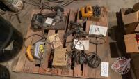 Pallet of electric hand tools