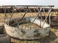 skirted round bale feed ring