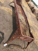 10' metal feed trough