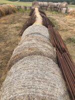 round straw bale (year baled unknown)
