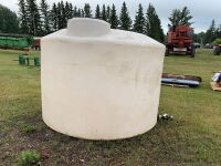 1200-gal poly water tank, A46