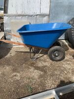 Large plastic wheel barrow, A55