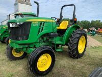 2015 JD 5045E 45hp 2wd Tractor w/3PT, i Match quick hitch, 540 pto, singlehyd, 9-speed standard trans, 14.9-28 rear rubber, 7.50-16 front rubber, roll bar, 130hrs showing, s/n100443, A55
