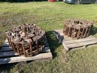 steel Skid Steer Tracks - off Case 1845 Skid Steer, fit 12-16.5 tires, new bushings & Links, A36