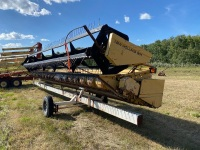 30' NH 971 Header w/MacDon fingers w/ Armco transport, A50