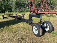 Elmer's s/a header transport w/Marc's front caster hitch dolly, never been on Hwy, tires as new 225/75/15, originally set up for Rigid header but altered for MacDon