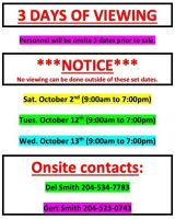 VIEWING DATES & TIMES