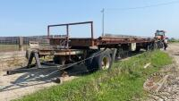 40ft highboy flat deck hay trailer with s/a converter dolly, NO TOD Seller: Fraser Auction_________________________