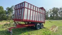 J&B t/a 14ft dump trailer