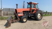 Allie Chalmers 7045 2wd tractor w/9ft front mount blade