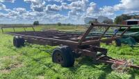 30ft s/a bale trailer w/single axle steering dolly