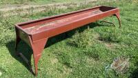 10ft Cypress Ind metal feed trough (only used 1 season)