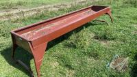 10ft Cypress Ind metal feed trough (Used only 1 season)