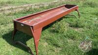 10ft Cypress Ind metal feed trough