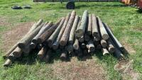 7 to 8ft corner post (approx 63) sells as a lot