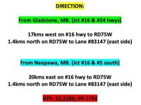 Directions to sale site