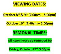 Viewing Dates & Pick-Up Information