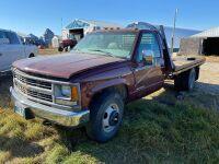 *2000 Chev 3500 2WD Dually Truck, 074,140 original kms, VIN#1GBJC34R9YF499299, Owner: Estate of John G Morrice, Seller: Fraser Auction___________
