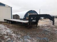 *1997 30' PJ 5th Wheel triple axel flat deck trailer, VIN#4P5GF3030V1117125, Owner: Estate of John Morrice, Seller: Fraser Auction___________