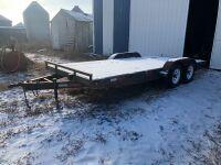 *2006 18' Darco t/a bumper hitch flat deck trailer, VIN#2D9FSF2D06R108203, Owner: Estate of John G Morrice, Seller: Fraser Auction_____________