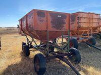 *Gravity grain box on 6-wheel wagon
