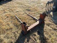 *2-prong loader mount bale fork